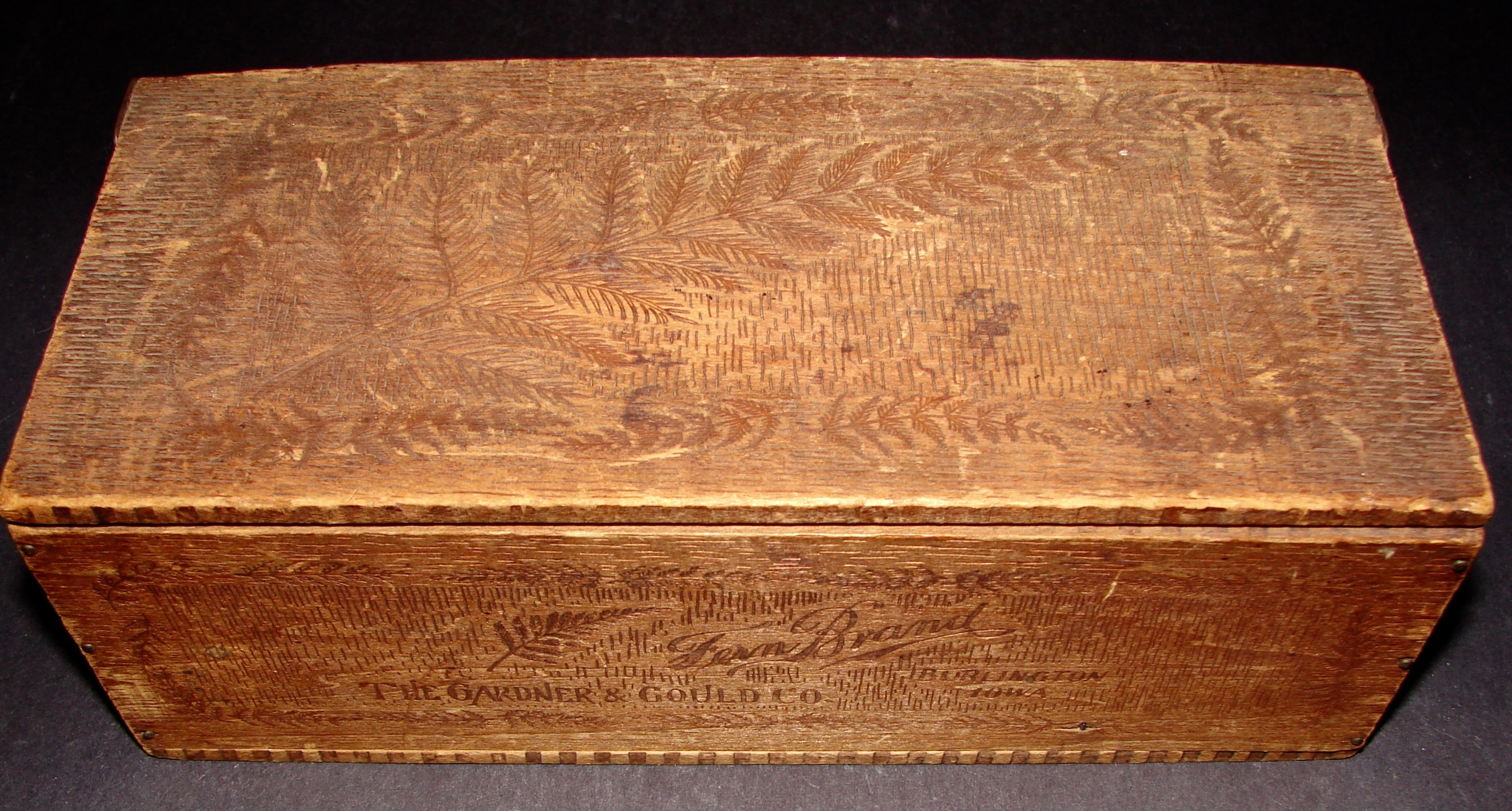 Wooden Glove Box ~ Fern brand chocolales related items